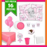 Kit Festa Infantil Elefantinha 16 Pessoas - Festabox