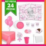Kit Festa Infantil Elefantinha 24 Pessoas - Festabox