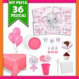 Kit Festa Infantil Elefantinha 36 Pessoas - Festabox