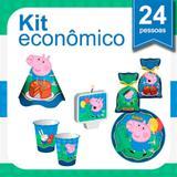 Kit Festa Infantil George Pig 24 pessoas Econômico - Festabox