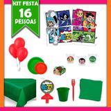 Kit Festa Infantil Jovens Titãs 16 Pessoas - Festabox