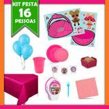 Kit Festa Infantil LOL Surprise 16 Pessoas - Festabox