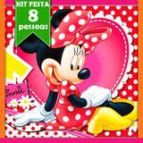 Kit Festa Infantil Minnie Vermelha 08 pessoas - Festabox