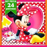 Kit Festa Infantil Minnie Vermelha 24 pessoas - Festabox