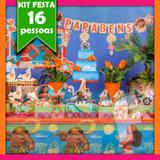 Kit Festa Infantil Moana 16 Pessoas Econômico - Festabox