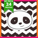 Kit Festa Infantil Panda  24 Pessoas - Festabox