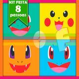 Kit Festa Infantil Pokémon 08 Pessoas Econômico - Festabox