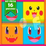 Kit Festa Infantil Pokémon 16 Pessoas Econômico - Festabox