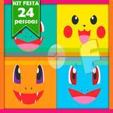 Kit Festa Infantil Pokémon 24 Pessoas Econômico - Festabox