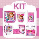 Kit Festa Infantil Princesinha Sofia 24 pessoas - Festabox