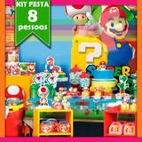 Kit Festa Infantil Super Mário 08 Pessoas Econômico - Festabox