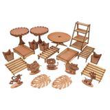 Kit Festa Mdf Aniversário Safari 29 peças - Madeira e design