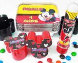Kit festa Mickey personalizado para lembrancinha - 10 unidades de cada item - Fabi brindes