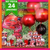 Kit Festa Miraculous Lady Bug 24 Pessoas Econômico - Festabox