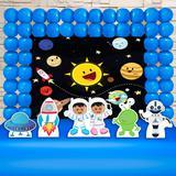 Kit Festa Ouro Astronauta Cute - IMPAKTO VISUAL