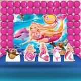 Kit Festa Ouro Barbie Sereia - IMPAKTO VISUAL