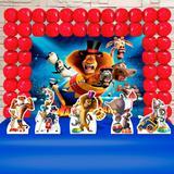 Kit Festa Ouro Madagascar 3 Circo - IMPAKTO VISUAL