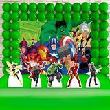 Kit Festa Ouro Vingadores Desenho - IMPAKTO VISUAL