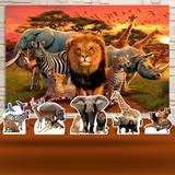 Kit Festa Prata Animais Safari  - IMPAKTO VISUAL