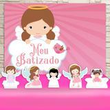 Kit Festa Prata Batizado Menina  - IMPAKTO VISUAL
