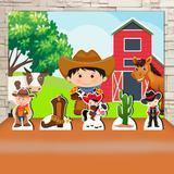 Kit Festa Prata  Cowboy Fazendinha  - IMPAKTO VISUAL