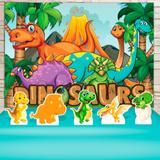 Kit Festa Prata Dinossauros Baby Cute  - IMPAKTO VISUAL
