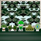 Kit Festa Prata Exército - IMPAKTO VISUAL