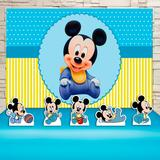 Kit Festa Prata Mickey Baby  - IMPAKTO VISUAL