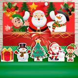 Kit Festa Prata Natal Papai Noel  - IMPAKTO VISUAL