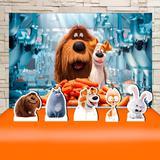 Kit Festa Prata Pet a Vida Secreta dos Animais  - IMPAKTO VISUAL
