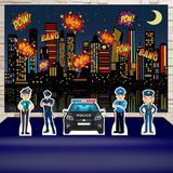 Kit Festa Prata Polícia   - IMPAKTO VISUAL