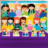 Kit Festa Prata Princesas Baby Cute  - IMPAKTO VISUAL