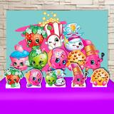 Kit Festa Prata Shopkins   - IMPAKTO VISUAL
