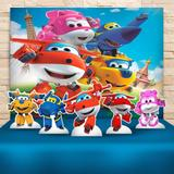 Kit Festa Prata Super Wings  - IMPAKTO VISUAL