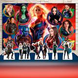 Kit Festa Prata Vingadoras Heroínas Marvel  - IMPAKTO VISUAL