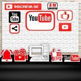 Kit Festa Prata You Tube Redes Sociais  - IMPAKTO VISUAL