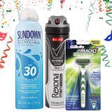 Kit folia homem: aparelho barbeador + desodorante aerosol + protetor solar - Gillette
