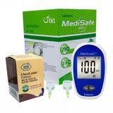 Kit Glicemia Plus: 1 Medidor GlucoLeader + 1 Frasco c/50 Tiras Reagentes + 200 Lancetas Seg 28G MediSafe