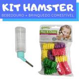 Kit Hamster com Brinquedo Comestível e Bebedouro Pawise