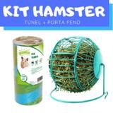Kit Hamster com Túnel e Porta Feno Pawise