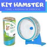 Kit Hamster com Túnel e Roda Exercício Pawise