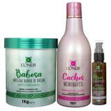 Kit Hidratação com Babosa para Cabelos Cacheados Lonuy - Lonuy kosmetic