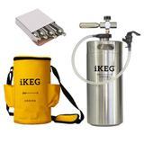 Kit Ikeg de 4 Litros com Torneira Plástica e Bolsa Térmica e CO2