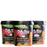 Kit Inoar Doctor Tripla Ação 450g cada Hidratação, Nutrição e Reconstrução