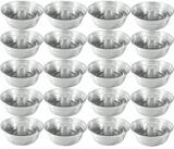 Kit Jogo 20 Peças Forma 22 Cm Alumínio Brilhante Pudim Bolo - Aluminio daltron