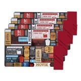Kit Jogo Americano e Guardanapo de Tecido Vermelho 8 peças - Copacia