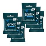 Kit Jontex Preservativo Lubrificado XL Sensitive c/3 - 6 unid.