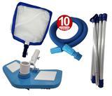 Kit Limpeza Manutenção para Piscinas Alvenaria Fibra Vinil - 10 M - Sos da piscina