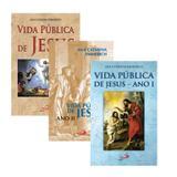 KIT LIVROS ANA CATARINA EMMERICH - VIDA PUBLICA DE JESUS ANO I,II e III - Paulus
