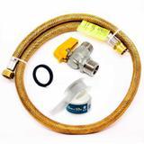 Kit Mangueira 80cm Para Gás Flexível + Registro + Adaptador - Elite gás